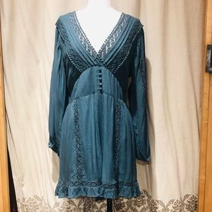 American eagle emerald green long sleeve romper